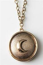 New!! Low Luv by Erin Wasson Crescent Button Yellow Gold Plated Necklace!!