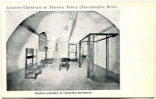 Primi '900 Istituto Centrale Terapia Fisica Roma Rep. Ortopedia Meccanica FP B/N