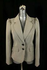 NEW $128 womens brown THE LIMITED blazer jacket ruffle business career SMALL