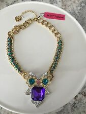 Betsey Johnson Owl Charms Statement NWT