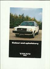 VOLVO 343 COLOURS AND UPHOLSTERY SALES 'BROCHURE' SHEET 1977