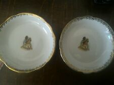 Pair of saucers dulevo ussr dulyovo hand-painted porcelain