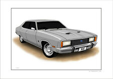FORD  XC  FAIRMONT  GXL  5.8  V8  LIMITED EDITION CAR PRINT  ARTWORK  DRAWING