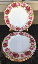 "Royal Albert Old English Rose Lunch Luncheon Dinner Plate 9-1/4"" Gold Trim"