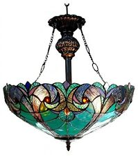 Dining Room Light Fixture Tiffany Style Stained Glass Ceiling Hanging Pendant