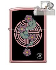 Zippo 238 Anne Stokes Pink Flower Lighter with PIPE INSERT PL