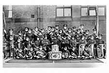 pt9535 - Salvation Army Band , Castelford , Yorkshire in 1926 - photograph