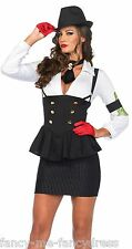 LEG AVENUE Ladies Sexy 1920s Gangster Moll Fancy Dress Costume Outfit 8-10 S