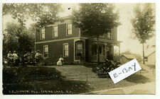 Spring Lake NY (Berlin, Rensselaer Co) RPPC real photo people id home pre 1920