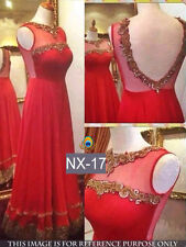 Designer Beautiful Red Color Net Fabric Gown Dress