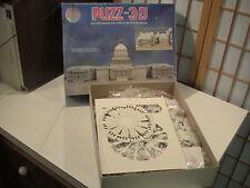 Vintage Wrebbit 3D Puzz US Capitol Building 690 Piece Puzzle 1991 Complete