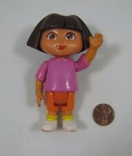 "DORA THE EXPLORER Dollhouse 3.5"" GIRL DOLL Pink Shirt Orange Pants Cake Topper"