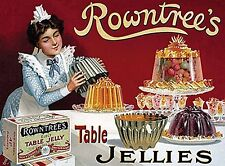 Rowntrees Table Jellies small steel sign 200mm x 150mm (og)