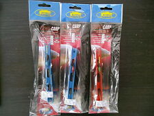 3 x  READY TO FISH COMPLETE  POLE FISHING  RIGS --  Hook Size 16's BARBLESS
