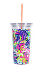 LILLY PULITZER - Tumbler with Straw - Exotic Garden - Acrylic 20 oz