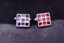 New Square Cuffinks with Coloured Inserts