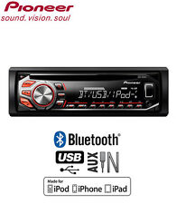 Pioneer DEH-4600BT car stereo, CD USB AUX Bluetooth Handsfree plays iPod iPhone