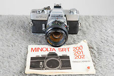 Minolta 50mm F1.4 Rokkor X with FREE SRT202 Camera Body! Mint! Tested/Guaranteed
