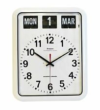 Grayson Digital White Easy to Read Alzheimer's Dementia Calendar Clock- G239A