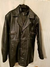 Men's Leather Jacket with Oklahoma State Seal Buttons Size 44-46?