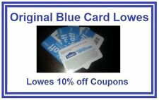 Original Blue Card Lowes Coupon 10% off Exp Aug 15 Home Depot Coupons By Mail