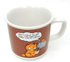 Vtg Garfield Coffee Mug-Don't Talk to Me 'Till l I've Had My First Cup of Coffee
