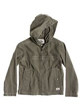 BNWT QUIKSILVER WARWICH YOUTH BOYS OLIVE HOODED PARKA SPRING JACKET M 12 YEARS