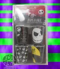 New Disney Nightmare Before Christmas Set 4 Unbreakable Shot Glass Cup Glasses