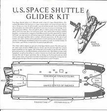 NASA , SPACE SHUTTLE GLIDER KIT. THICK PAPER