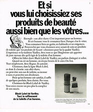 PUBLICITE ADVERTISING 084  1977   YARDLEY   BLACK LABEL  after-shave savon homme
