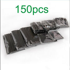 150pc BLACK Heat Shrink Tube Assorted Cable Wire Wrap Electric Insulation Sleeve