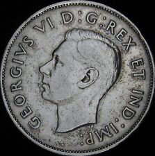 1939 VF+ Canada Silver 50 Cents (Fifty, Half) - KM# 36 - Free Shipping - JG