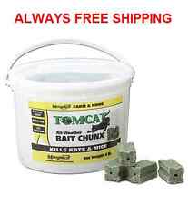 TOMCAT BAIT CHUNX - 4LB PAIL. MICE-RAT-RODENT ALL WEATHER BAIT CHUNX