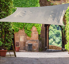 Outsunny Sun Shade Sail 12' x 12' Outdoor UV Square Cover Canopy Patio Garden