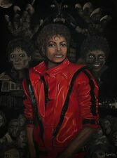 "Spooky Michael Jackson ""Thriller"" Inspired Painting (Fine Art Poster) - 18"" x 24"