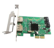SATA III 2 Internal, 2 External Ports PCI-e Version 2, x2 Slot Controller Card