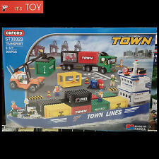 Oxford Blocks TOWN TRANSPORT ST33323 Harbor Container Ship Truck Bricks Toy set