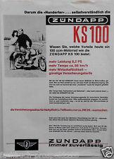 ORIGINAL PROSPEKT ZÜNDAPP KS100  MOTORRAD OLDTIMER NÜRNBERG SAMMLER