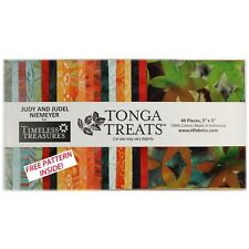 Timeless Treasures charme Pack-Tonga traite Bird of Paradise 20 styles batik