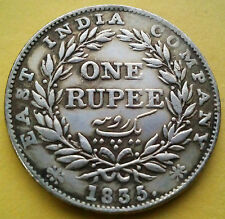 one rupee 1835 william four east india company coin
