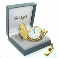 Burleigh Gold Finish Pocket Watch in Gift Box