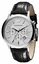 Emporio Armani Classic Watch Silver / Black Quartz Analog Men's Watch AR2432