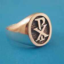 Chi Rho Ring - Solid Sterling Silver