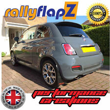 rallyflapZ to fit FIAT 500 (2007 on) Mudflaps Black 3mm PVC Mud Flaps Logo Red