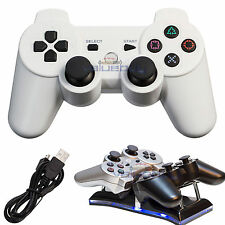 New Wireless Bluetooth Controller Game Console for Sony PS3 White Free Shipping