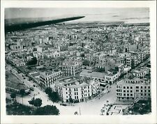1943 Airview of Tunis After Allied Occupation Original News Service Photo