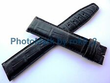 Genuine IWC Black Alligator Watch Strap Band 21mm X 18mm Brand New!!!