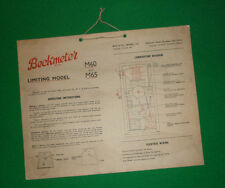 VINTAGE LARGE BECKMETER PETROL PUMP OPERATION CARD (LIMITING MODEL) M60 M65 FUEL