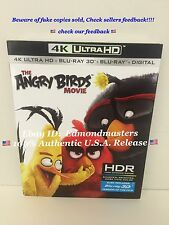 The Angry Birds Movie 4K UHD + Blu-ray 3D + Blu-ray + UV HD Brand New Sealed!