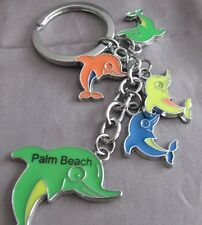 """PALM BEACH DOLPHIN'S  LARGE AND SMALL MULTI COLOR  4 """" KEY CHAIN"""